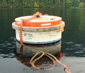 buoy inspection : barge tie-up lines