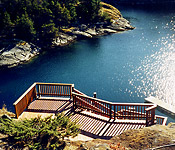 Cedar Stairs overlooking the Cove